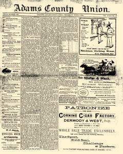 Adams County Union newspaper archives