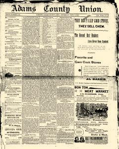 Adams County Union, September 05, 1895, Page 1