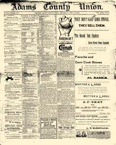 Adams County Union, September 19, 1895, Page 1