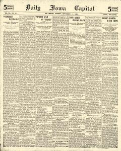 Daily Iowa Capital, September 12, 1899, Page 1
