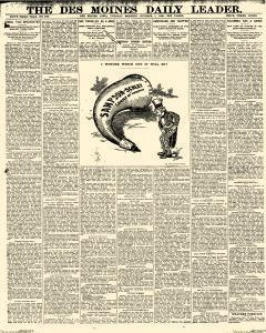 Des Moines Daily Leader, October 01, 1901, Page 1
