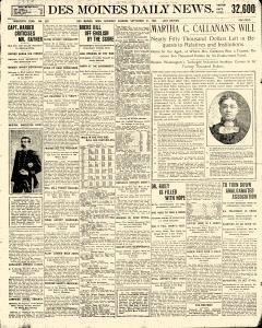 Des Moines Daily News, September 21, 1901, Page 1