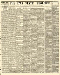 Des Moines Iowa State Register, June 03, 1863, Page 1