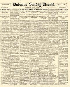 Dubuque Sunday Herald, October 28, 1900, Page 1