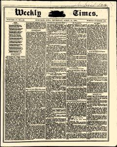 Weekly Times, April 11, 1861, Page 1