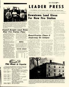 Leader Press, August 10, 1972, Page 1