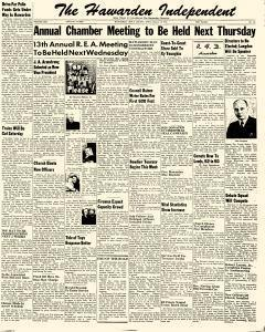 Hawarden Independent, January 18, 1951, Page 1