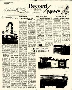 Jewell Record News, April 14, 1977, Page 1