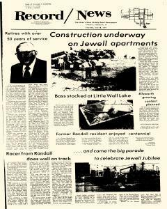 Jewell Record News, June 29, 1978, Page 1
