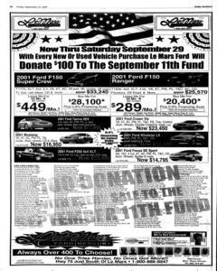 Le Mars Daily Sentinel, September 21, 2001, Page 16