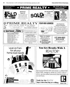 Le Mars Daily Sentinel, September 21, 2001, Page 20