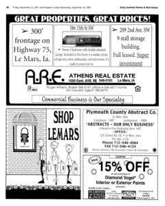Le Mars Daily Sentinel, September 21, 2001, Page 22