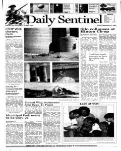 Le Mars Daily Sentinel, September 21, 2001, Page 1