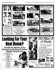 Le Mars Daily Sentinel, September 21, 2001, Page 21