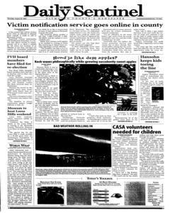 Le Mars Daily Sentinel, August 30, 2007, Page 1