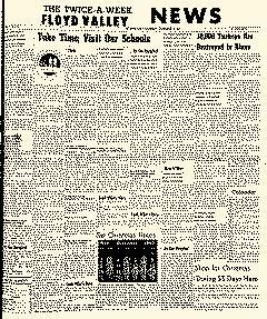 Floyd Valley News, November 15, 1962, Page 1