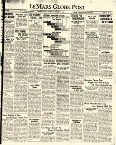 Le Mars Globe Post, August 02, 1945, Page 1
