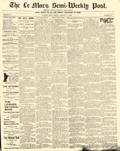 Lemars Semi Weekly Post, August 11, 1899, Page 1