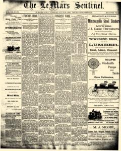 Lemars Sentinel, July 22, 1890, Page 1