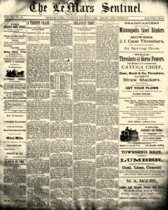 Lemars Sentinel, August 05, 1890, Page 1