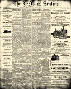 Lemars Sentinel, August 12, 1890, Page 1