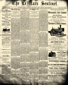 Lemars Sentinel, August 19, 1890, Page 1
