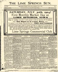 Lime Springs Sun, July 14, 1904, Page 1