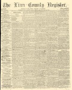 Linn County Register, October 15, 1859, Page 1