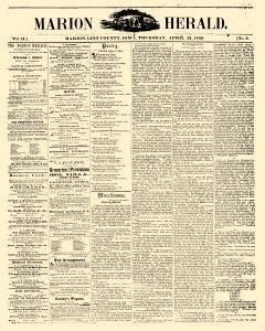Marion Herald, April 21, 1859, Page 1