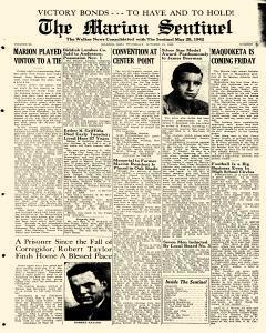Marion Sentinel, October 18, 1945, Page 1