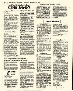 Marion Sentinel, February 25, 1982, Page 14