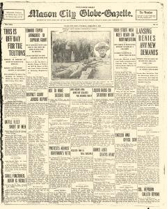 Mason City Globe Gazette, February 08, 1916, Page 1