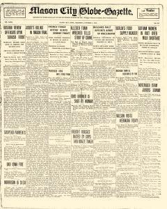 Mason City Globe Gazette, October 05, 1916, Page 1
