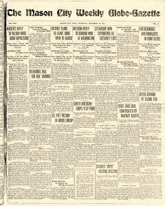 Mason City Globe Gazette, December 28, 1916, Page 1
