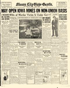 Mason City Globe Gazette, September 29, 1927, Page 1