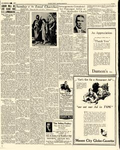 Mason City Globe Gazette, November 30, 1929, p. 5