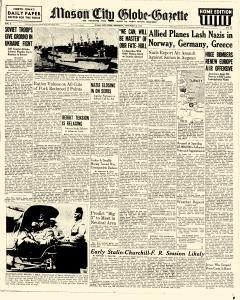 Mason City Globe Gazette, November 18, 1943, Page 1