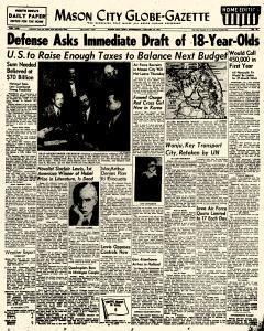 Mason City Globe Gazette, January 10, 1951, Page 1