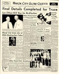 Mason City Globe Gazette, July 25, 1953, Page 1