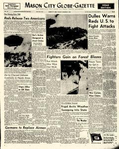 Mason City Globe Gazette, December 29, 1953, Page 1