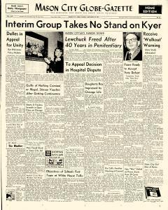 Mason City Globe Gazette, November 29, 1955, Page 1