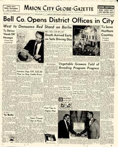 Mason City Globe Gazette newspaper archives