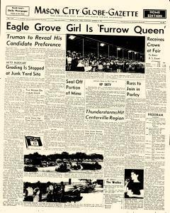 Mason City Globe Gazette, August 09, 1956, Page 1