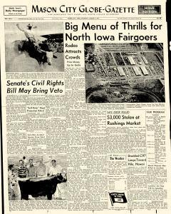 Mason City Globe Gazette, August 08, 1957, Page 1