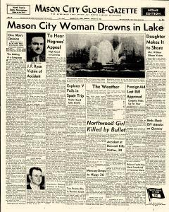 Mason City Globe Gazette, August 25, 1958, Page 1