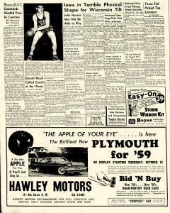 Mason City Globe Gazette, October 15, 1958, Page 20