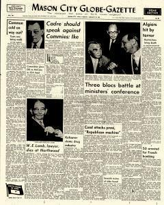 Mason City Globe Gazette, January 23, 1962, Page 1