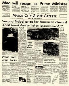 Mason City Globe Gazette, October 10, 1963, Page 1