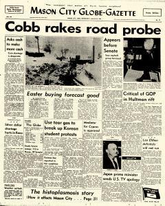 Mason City Globe Gazette, March 25, 1964, Page 1
