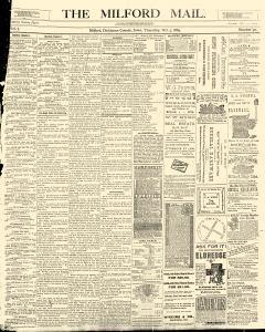 Milford Mail, October 03, 1889, Page 1